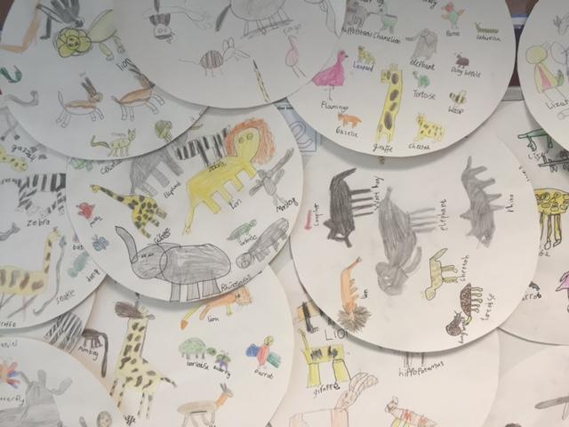 POWEs School Visit Book Tour - children's art