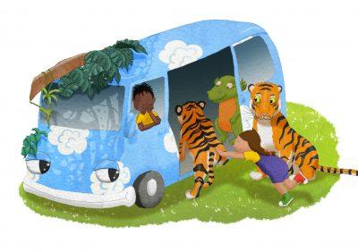 Art Print - The Lost Jungle Children's Book
