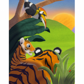 Art Print - The Lost Jungle Children's Book